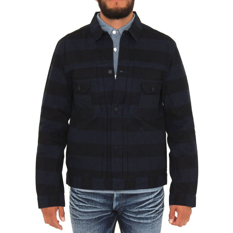 Pure Blue Japan 6078 Indigo Border Jacket