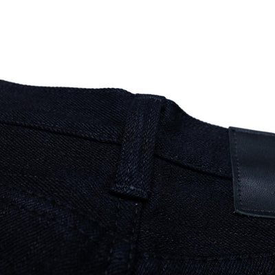 Pure Blue Japan XX-18oz-019 Indigo x Black (Relaxed Tapered) - Okayama Denim Jeans - Selvedge