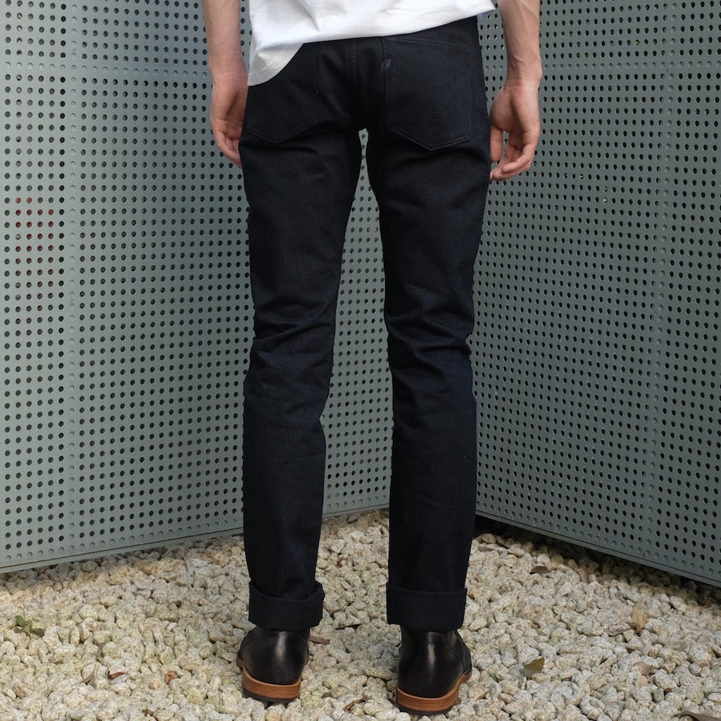 Pure Blue Japan 1144 Indigo x Black Selvedge Jeans (Slim Tapered)