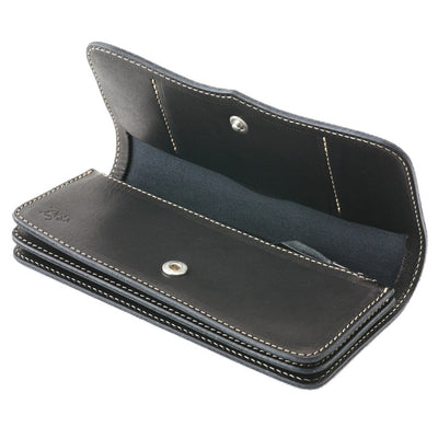 Redmoon Midline Long Wallet (Black) - Okayama Denim Accessories - Selvedge