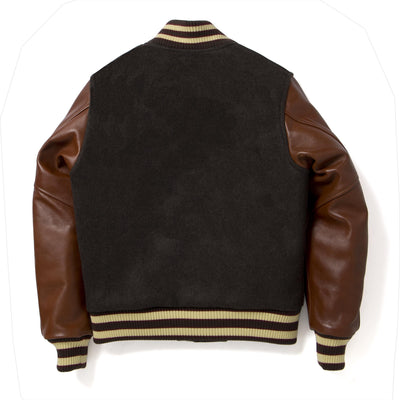 [Pre-order] Studio D'Artisan 4505 Wool/Horsehide Leather Stadium Jacket