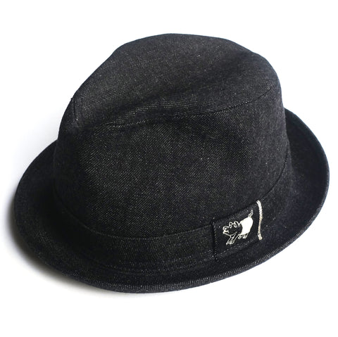 Studio D'Artisan Selvedge Denim Trilby Hat