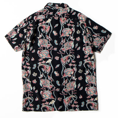 Studio D'Artisan SP-050 40th Anniversary Rayon Aloha Shirt (Black)