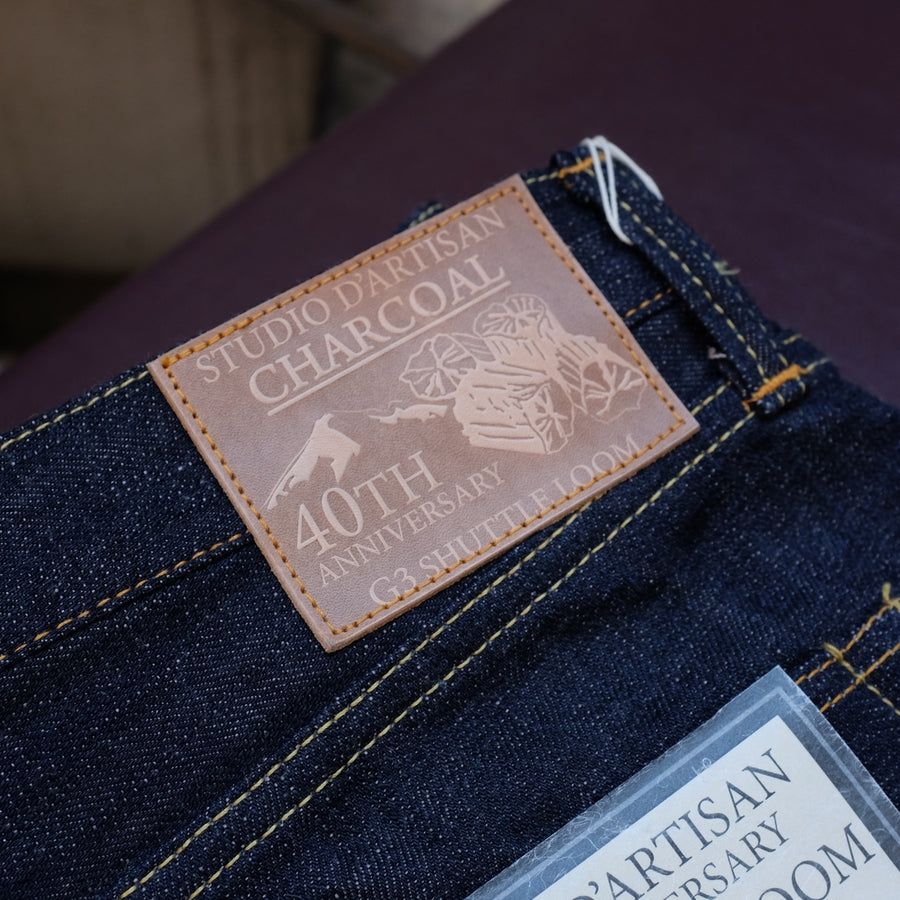 "Studio D'Artisan 40th Anniversary ""Charcoal"" Selvedge Jeans"