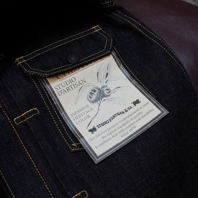 "Studio D'Artisan 40th Anniversary ""Chestnut"" Selvedge Jacket - Okayama Denim Jacket - Selvedge"