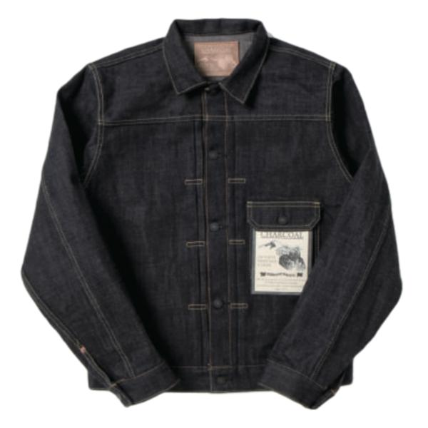 "Studio D'Artisan 40th Anniversary ""Charcoal"" Selvedge Jacket - Okayama Denim Jacket - Selvedge"