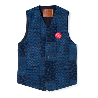 "Studio D'Artisan SP-074 40th Anniversary ""Arts"" Vest - Okayama Denim Jacket - Selvedge"