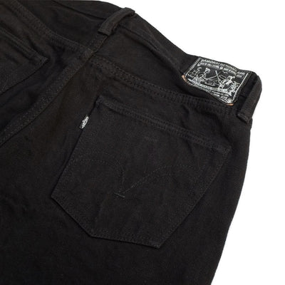 Samurai Jeans S511NBK 17oz. Black x Black Selvedge Denim Jeans (Slim Tapered) - Okayama Denim Jeans - Selvedge