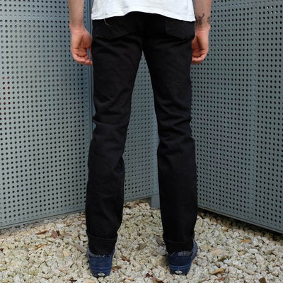 Samurai Jeans S511NBK 17oz. Black x Black Selvedge Denim Jeans (Slim Tapered)