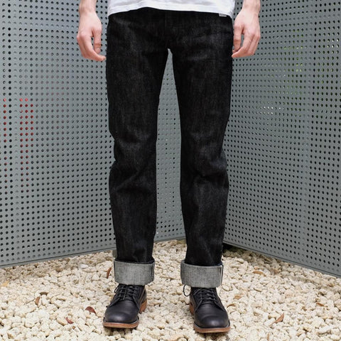 Samurai Jeans S710BK17oz-II 17oz. Black Selvedge Denim Jeans (Slim Tapered)