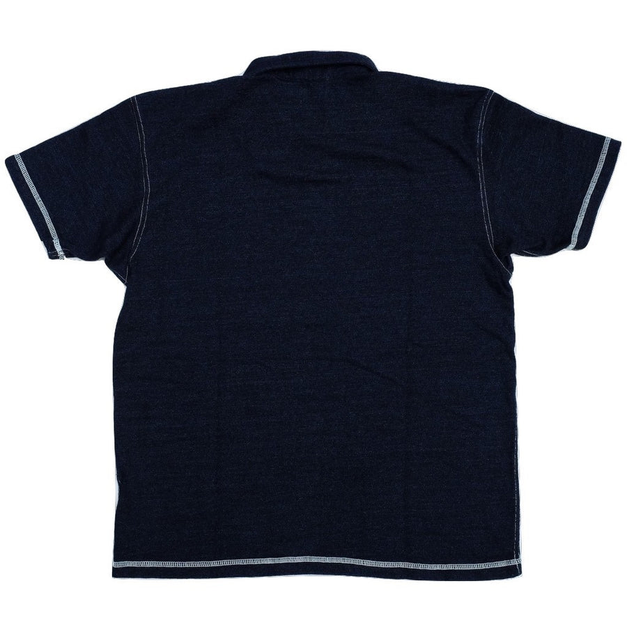 Samurai Jeans SJIT-102M Heavyweight Indigo Dyed Polo Shirt