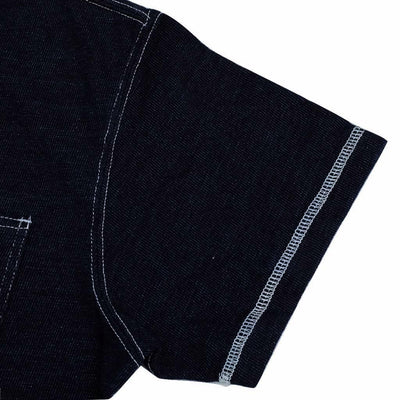 Samurai Jeans SJIT-105M Heavyweight Indigo Dyed Pocket Tee - Okayama Denim T-Shirts - Selvedge