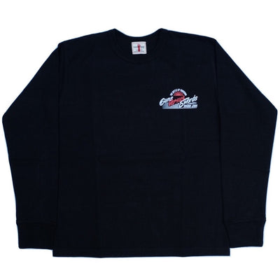 "Samurai Jeans SJSLT18-101 ""Guns Versus Swords"" Heavyweight Loopwheel L/S Logo Tee"