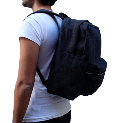 Samurai Jeans SJDB19-02 25oz. Selvedge Denim Travel Backpack - Okayama Denim Accessories - Selvedge
