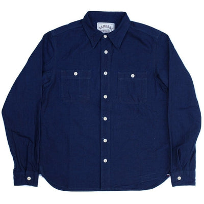 Samurai Jeans SDS18-02 Deep Indigo Selvedge Work Shirt