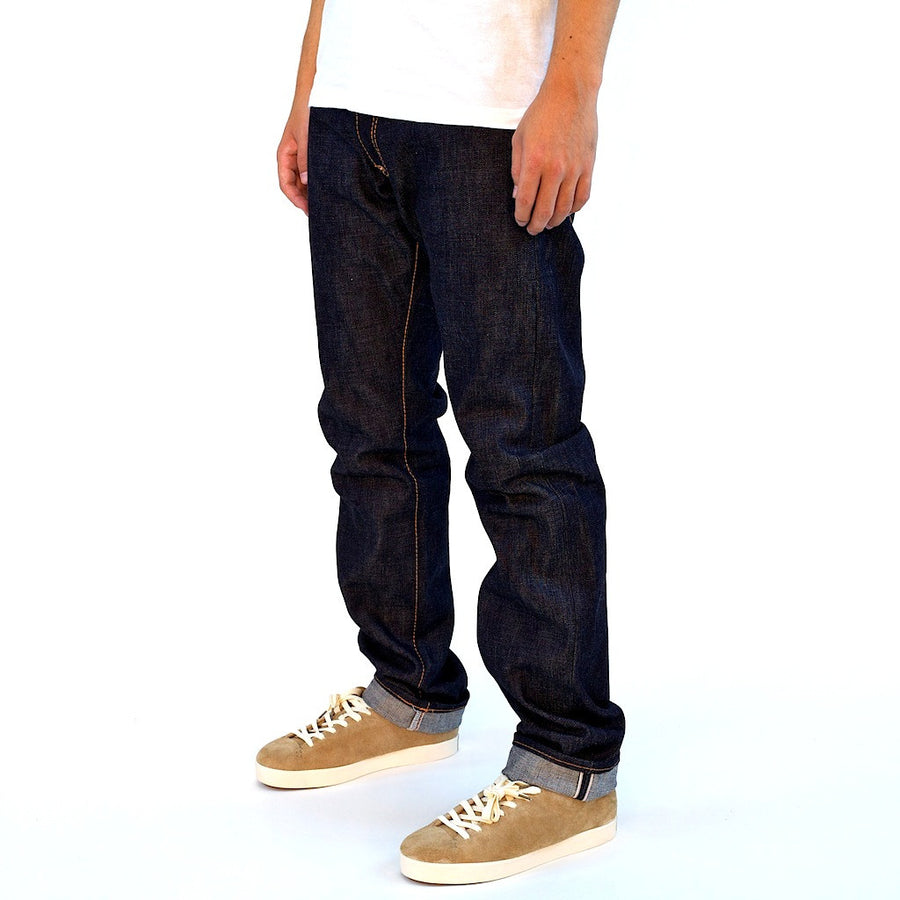 Senio Se-028 Gold Stitch Raw (Slim Straight) - Okayama Denim Jeans - Selvedge
