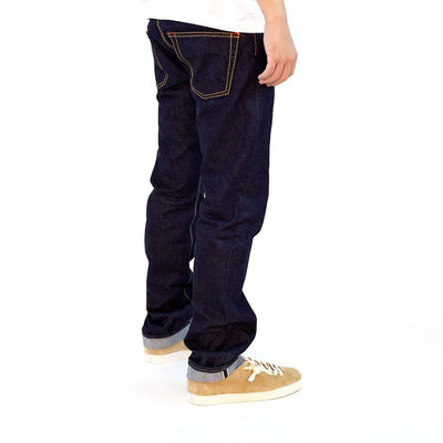 Senio Se-028R Gold Stitch Rinsed (Slim Straight) - Okayama Denim Jeans - Selvedge