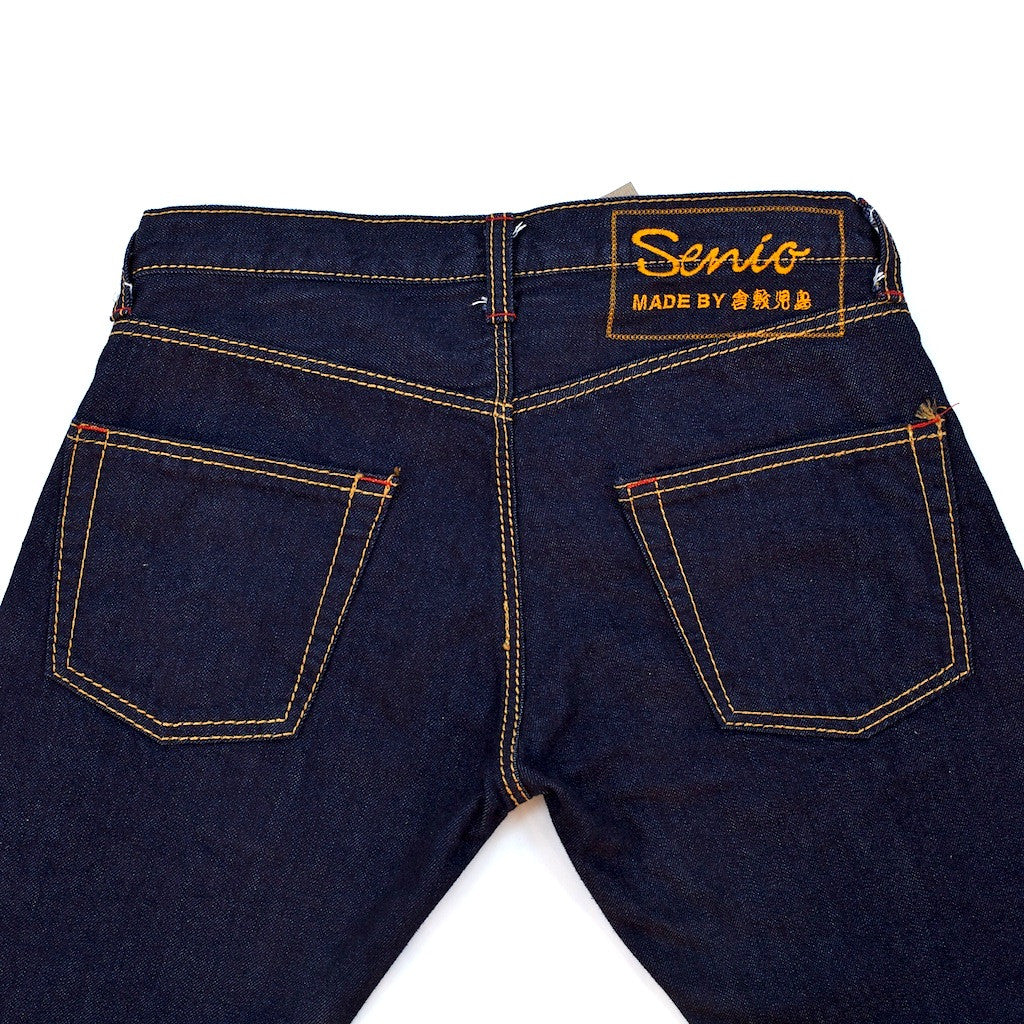 Senio Se-028R Gold Stitch Rinsed (Slim Straight)