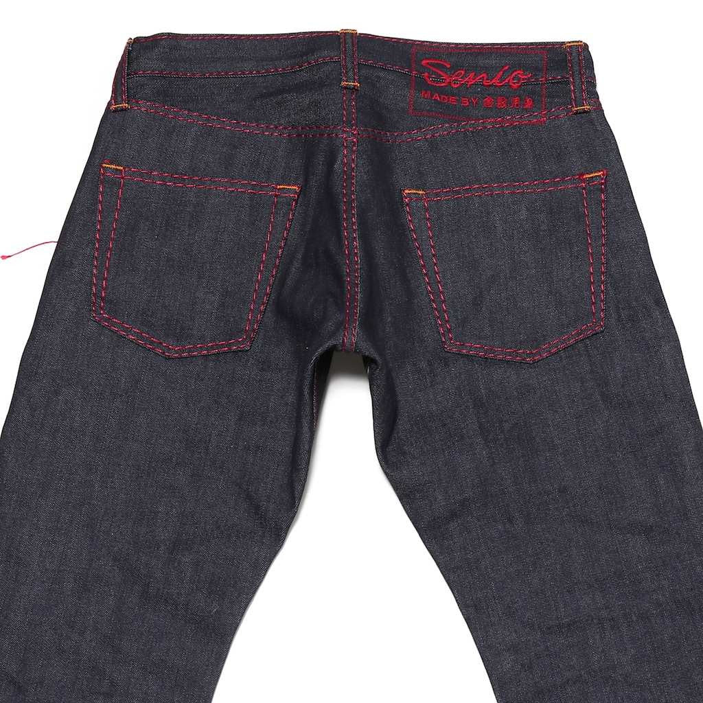 Senio Se-028 Red Stitch Raw (Slim Straight)