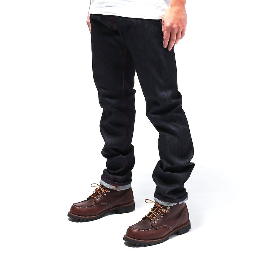 Senio Se-028 Red Stitch Raw (Slim Straight) - Okayama Denim Jeans - Selvedge