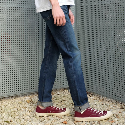 Soulive BLX-0505 DK Distressed Selvedge Jeans (Middle Straight) - Okayama Denim Jeans - Selvedge