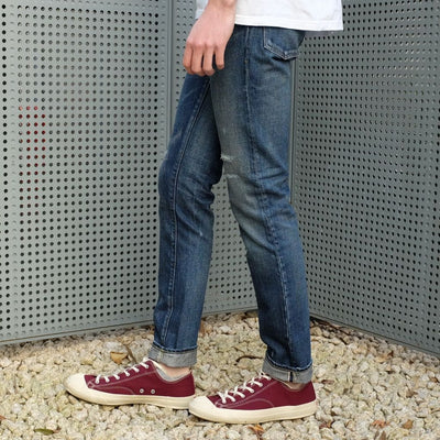 Soulive BLX-0508 Damage Distressed Selvedge Jeans (Slim Tapered)