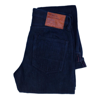 "Studio D'Artisan ""Kasezome"" Indigo Sashiko Selvedge Pants (Regular Straight)"