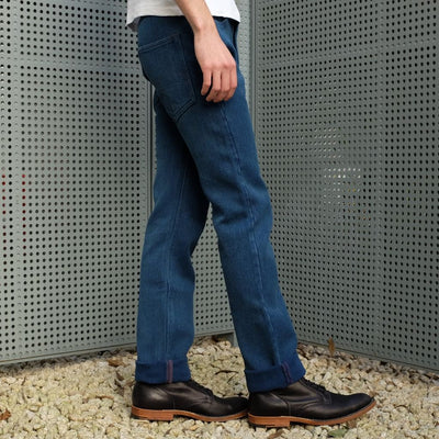 "Studio D'Artisan Distressed ""Kasezome"" Indigo Sashiko Selvedge Pants (Regular Straight) - Okayama Denim Pants - Selvedge"
