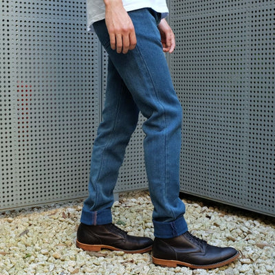 "Studio D'Artisan Distressed ""Kasezome"" Indigo Sashiko Selvedge Pants (Relax Tapered)"