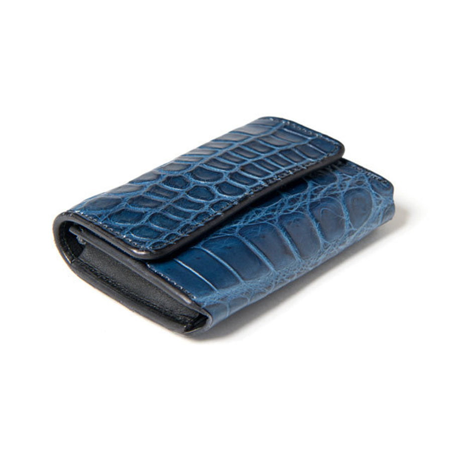 [Pre-Order] Studio D'Artisan SP-045 40th Anniversary Indigo Dyed Crocodile Card Case