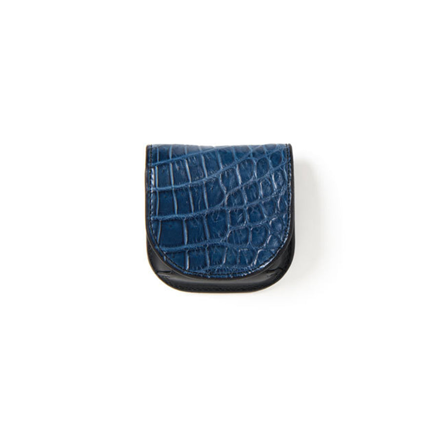 [Pre-Order] Studio D'Artisan SP-046 40th Anniversary Indigo Dyed Crocodile Coin Case
