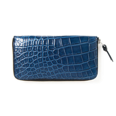 [Pre-Order] Studio D'Artisan SP-043 40th Anniversary Indigo Dyed Crocodile Leather Long Wallet