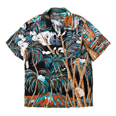 Studio D'Artisan SP-035 40th Anniversary Rayon Aloha Shirt (Black)