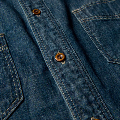 [Pre-Order] Studio D'Artisan 6.5oz. Distressed 40th Anniversary Heritage Denim Shirt