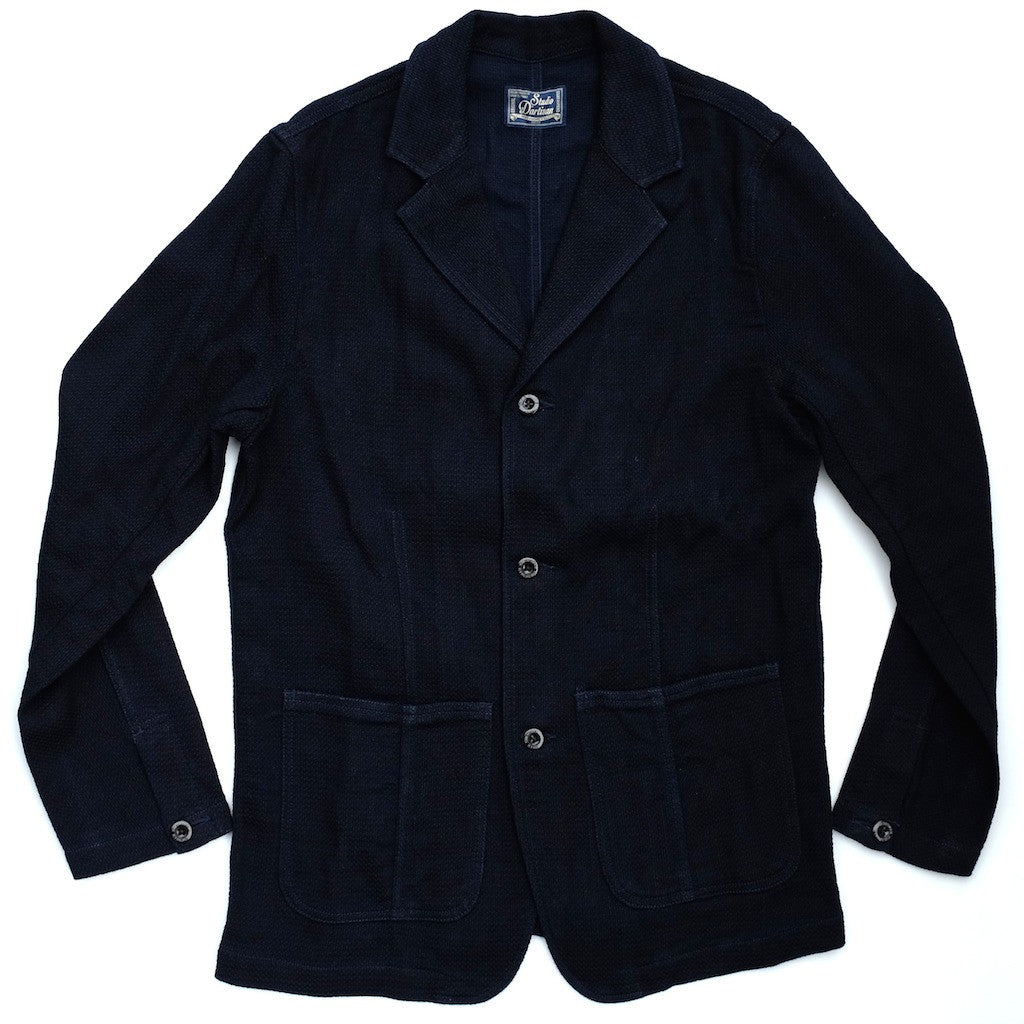 Studio D'Artisan 4389 Indigo Sashiko Tailored Jacket