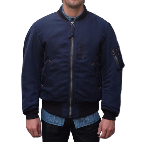 Studio D'Artisan Indigo Dyed MA-1 Flight Jacket