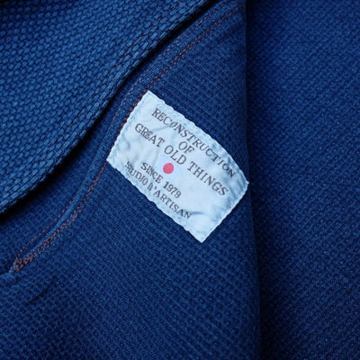 "Studio D'Artisan 4464 Distressed ""Kasezome"" Indigo Sashiko Selvedge Tailored Jacket"