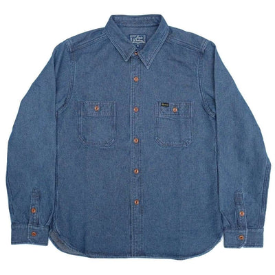 Studio D'Artisan 5618U Distressed Indigo Sashiko Work Shirt