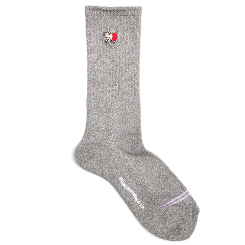 Studio D'Artisan Heather Long Socks (Light Gray)