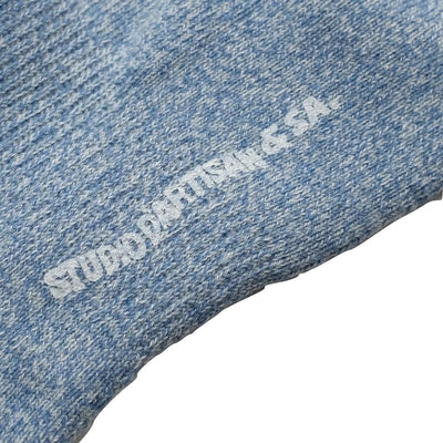 Studio D'Artisan Heather Ankle Socks (Blue) - Okayama Denim Accessories - Selvedge