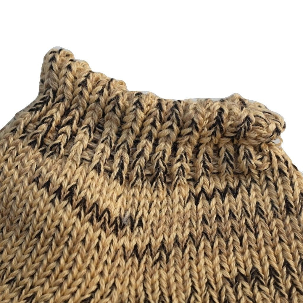 Studio D'Artisan Knitted Mixed Ankle Socks (Beige)