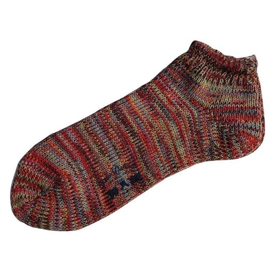 Studio D'Artisan Knitted Mixed Ankle Socks (Red) - Okayama Denim Accessories - Selvedge