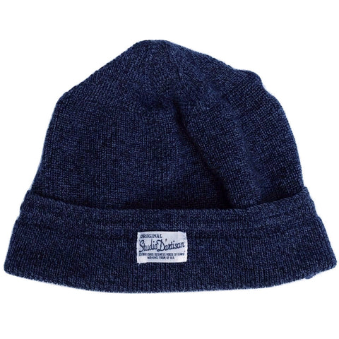 Studio D'Artisan Knitted Watch Cap (Navy)