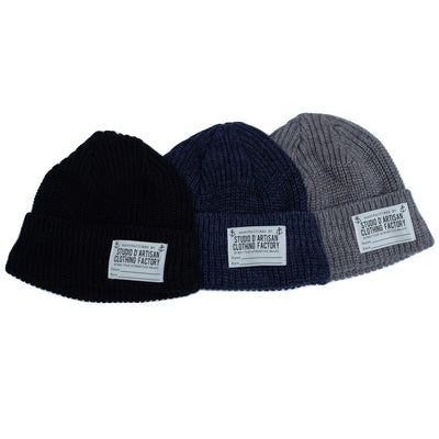 Studio D'Artisan Knitted USN Watch Cap (Gray)