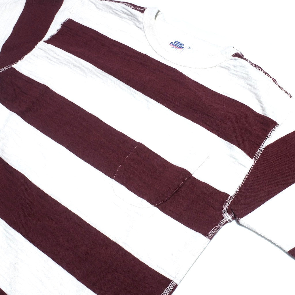 Studio D'Artisan 9796 Loopwheel Border Tee (Burgundy)