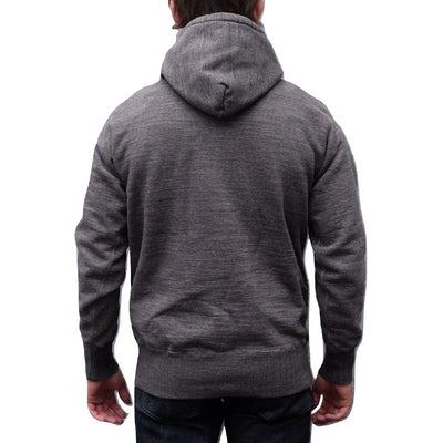 Studio D'Artisan Suvin Gold Hoodie (Heather Black) - Okayama Denim Sweatshirt - Selvedge