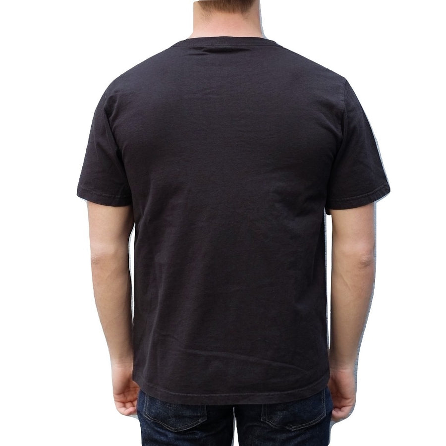 Studio D'Artisan Leather Pocket Tee (Black) - Okayama Denim T-Shirts - Selvedge