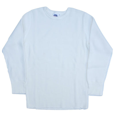 Studio D'Artisan L/S Heavy Thermal Tee (White) - Okayama Denim T-Shirts - Selvedge
