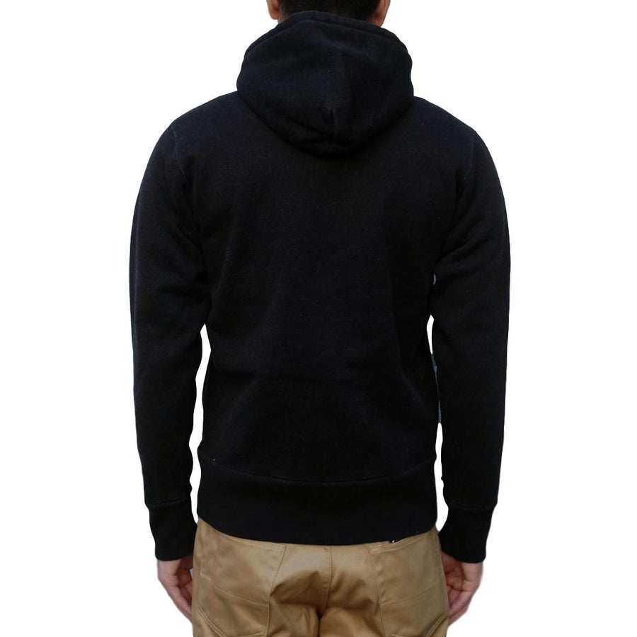 Studio D'Artisan 9985 Heavyweight Loopwheel Zip Hoodie (Black) - Okayama Denim Sweatshirt - Selvedge