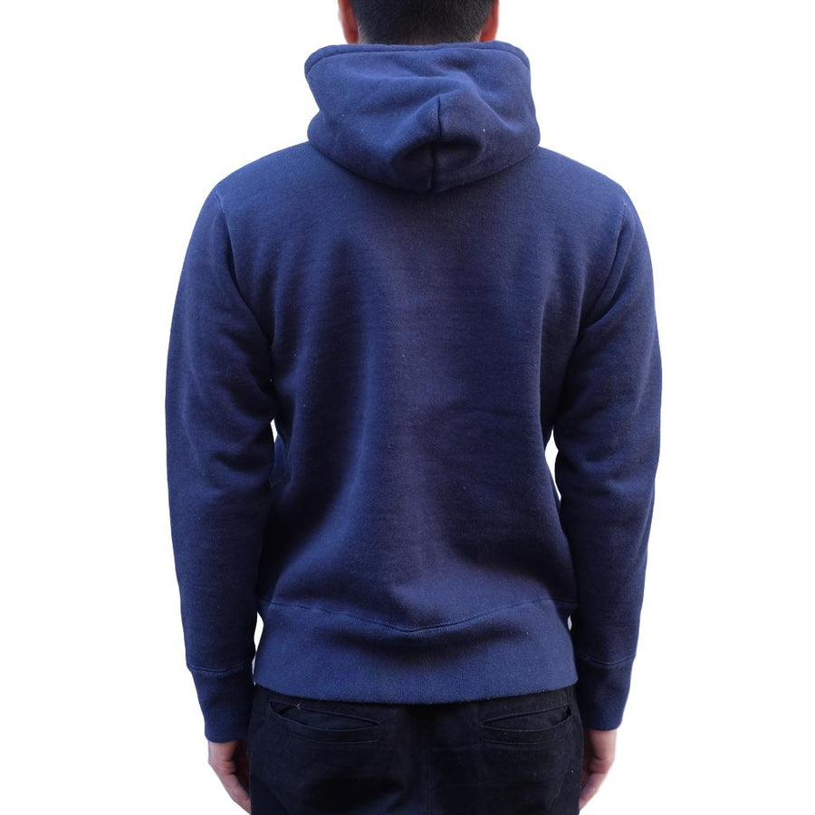 Studio D'Artisan 9985 Heavyweight Loopwheel Zip Hoodie (Navy) - Okayama Denim Sweatshirt - Selvedge
